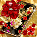Gold rose live wallpaper Apk Download For Android